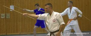 Kobudo Training in Leipzig mit Hanbō