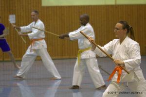 Kobudo Training mit Hanbō