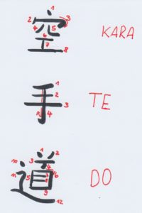 Schriftzeichen Karate Do selbst schreiben